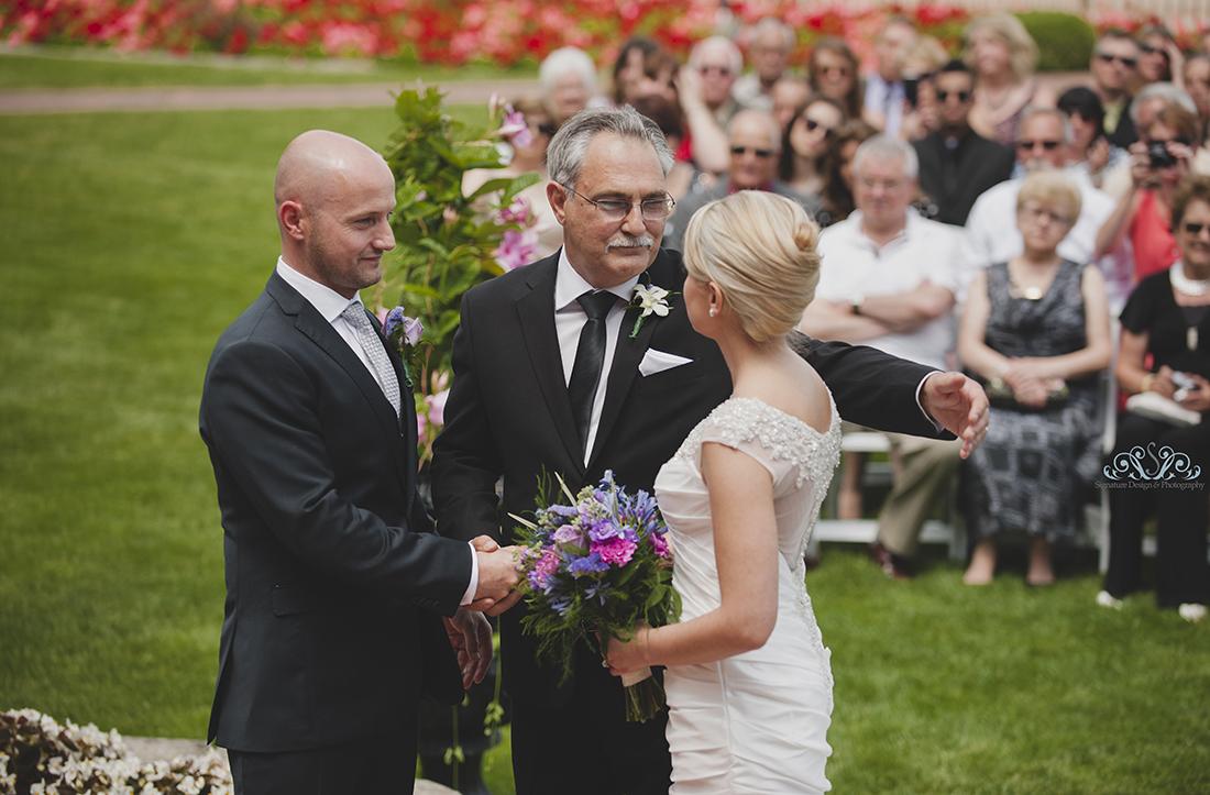 Wedding at Hiram Wlker in Windsor Ontario
