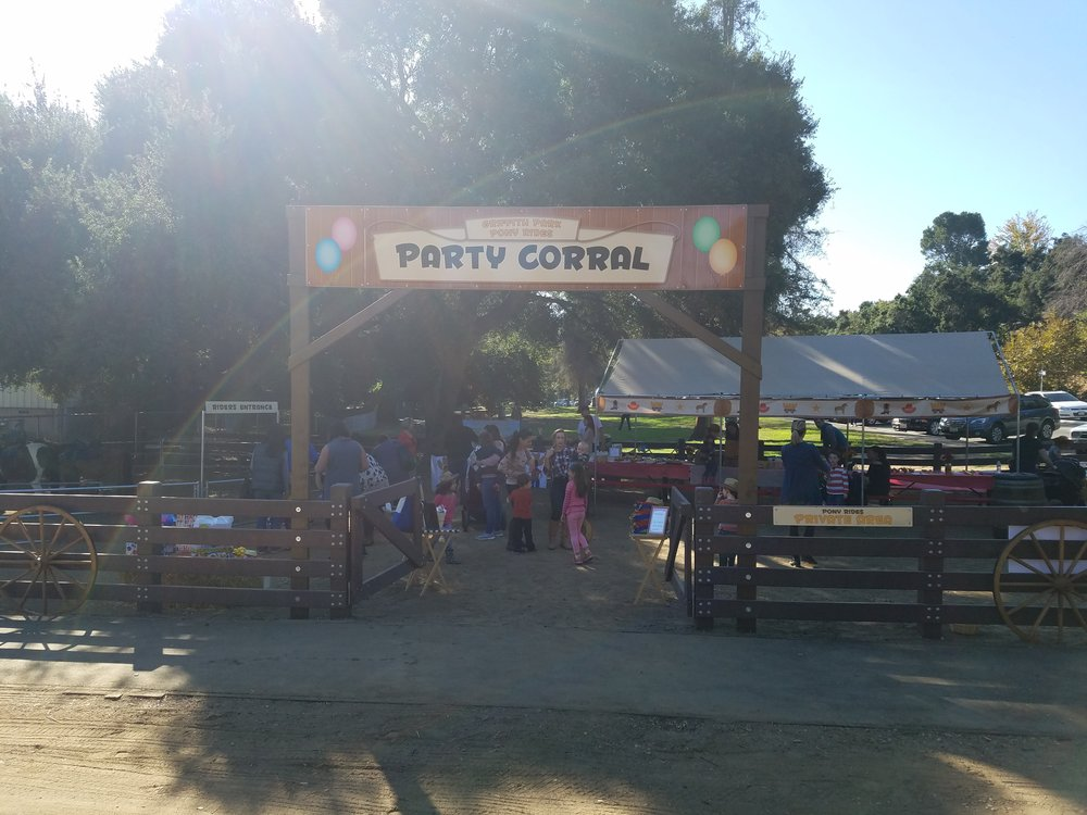 Party corral.