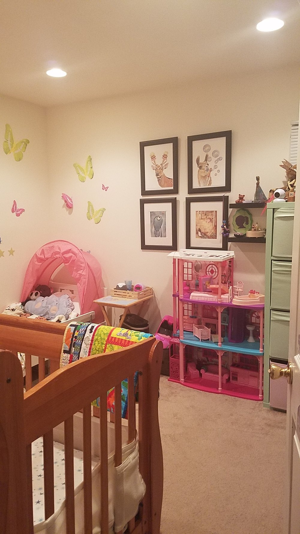 baby and toddler sharing a room