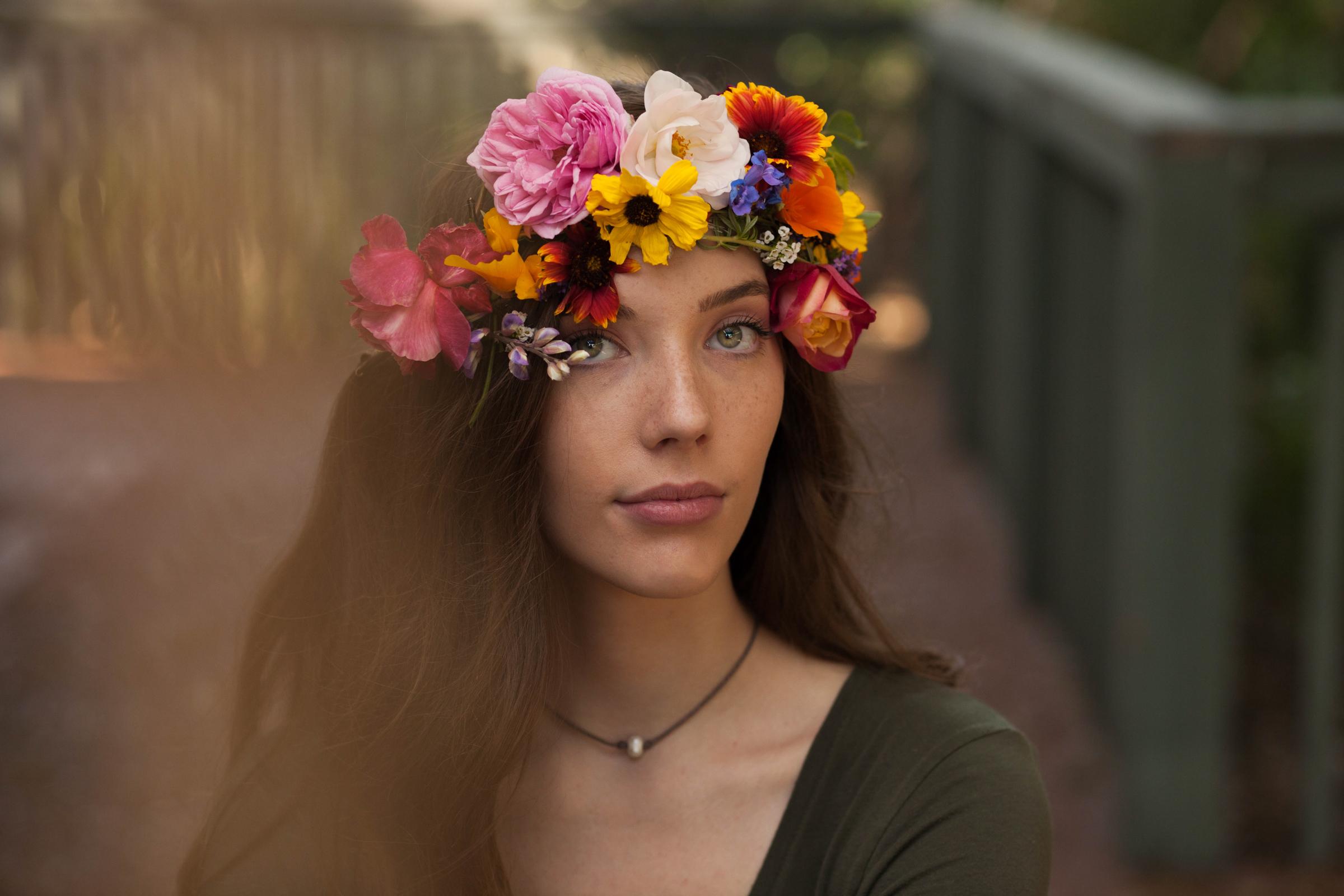 Ansley Flower Crown Portraits Fullerton Tori Worley Photography
