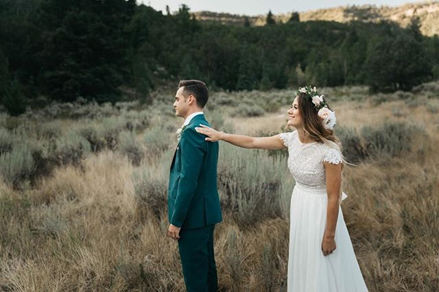 How cute is this first look we did this summer?? I'm still obsessed with it and it has been 7 months since we shot it. . . . . #wedding #utahphotographer #utahweddingphotographer #saltlakewedding #weddingphotography #utahweddings #canon6d #canon_photos #canonweddingphotography #provophotographer #saltlakecityphotographer #dirtybootsandmessyhair #weddingvideographer #sonya7iii #cinematographer #couplephotagraphers #utahweddingvideographer #belovedstories #intimateweddingphotographer #adventurouswedding #radcouples #radlovestories