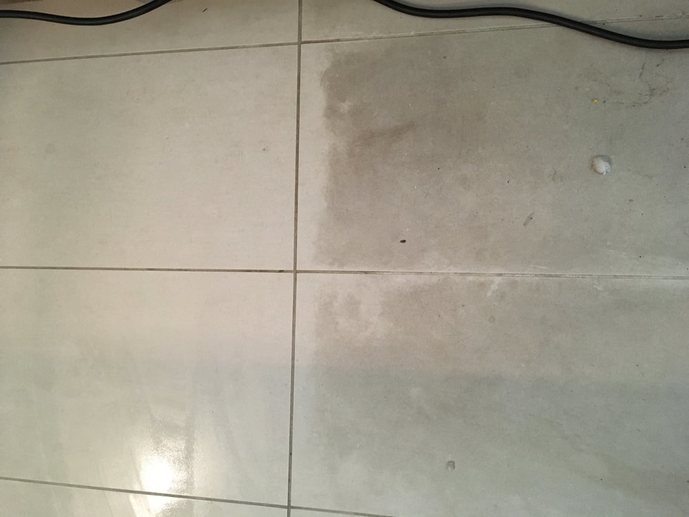 TILES BEFORE & AFTER STEAM CLEANING