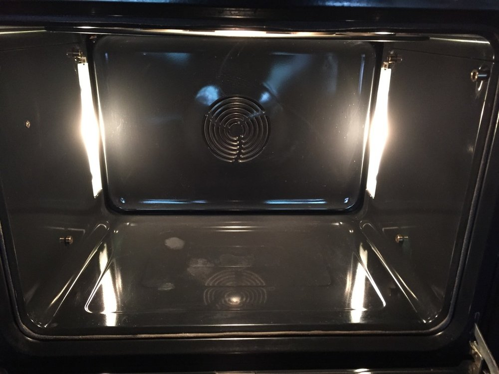 OVEN AFTER STEAM CLEANING