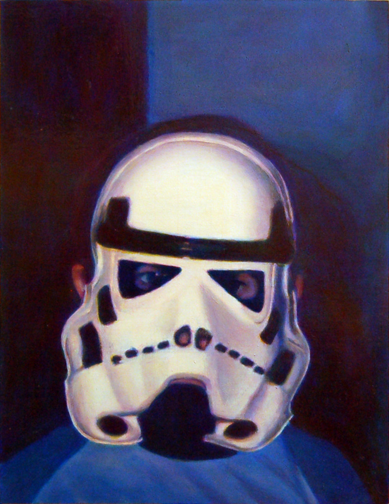 "Mask , 2008, oil on paper, 11.5"" x 8.75"""