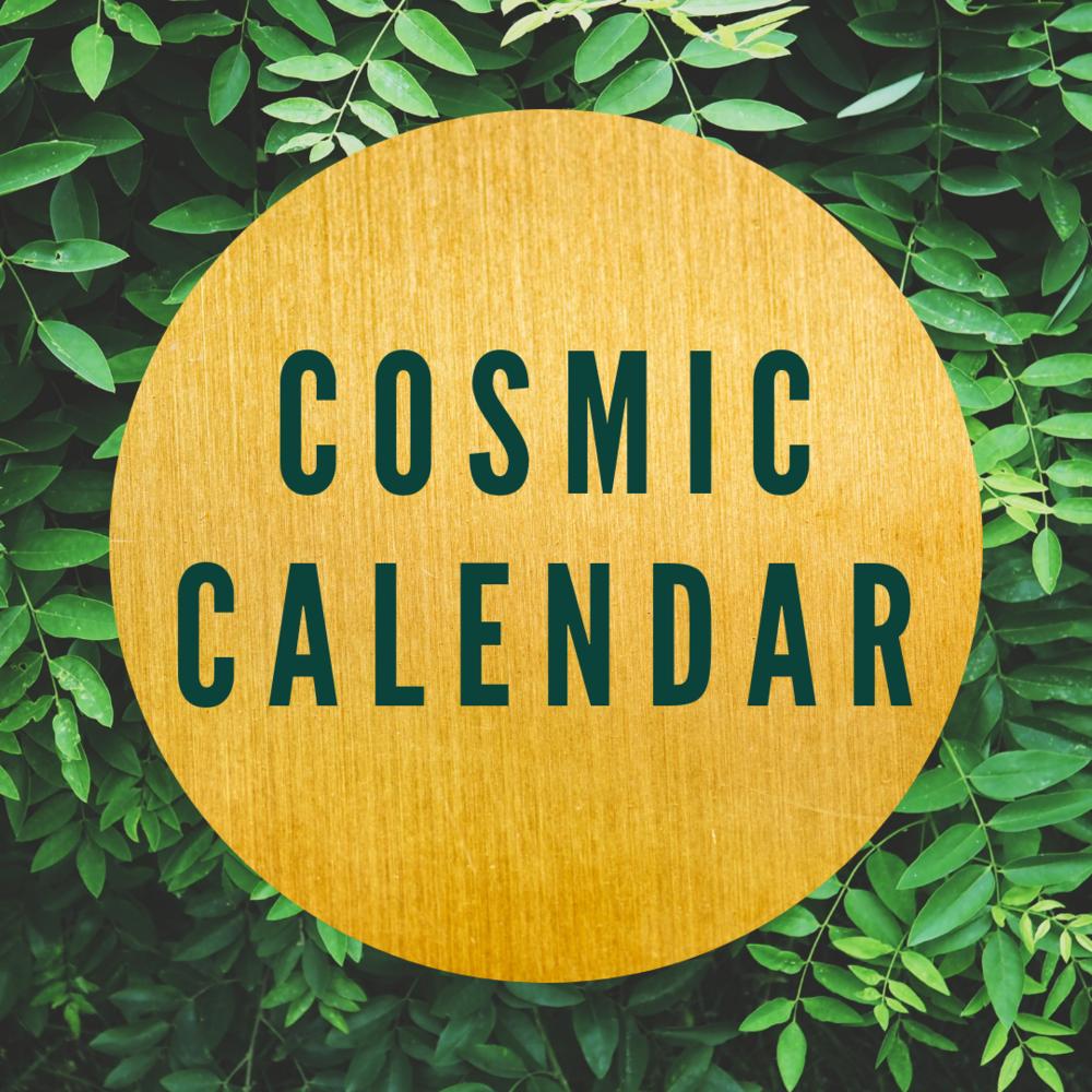 A calendar of key cosmic and seasonal events