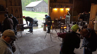 Blacksmith workshop at Dan Riddle's.
