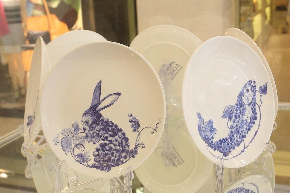 Wine Country Animal - Porcelain Plates $38 each/$200 for set of 6