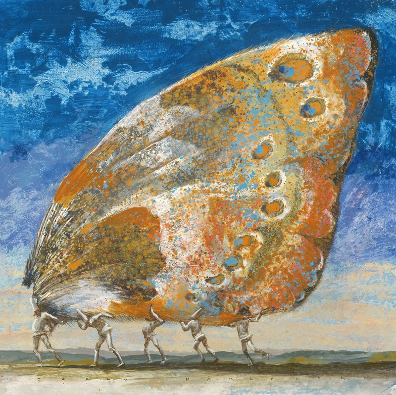 """Butterfly Wing Painting No. 2, 36"""" x 36"""", $9,500"""