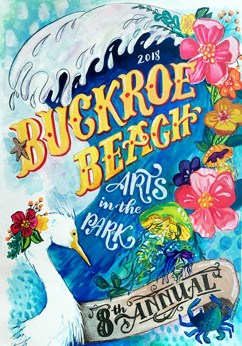 2018 Featured Artist for the Buckroe Beach VA Arts in the Park festival