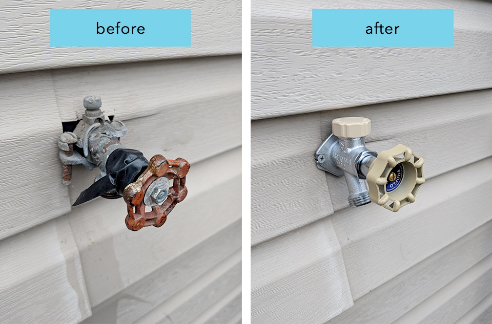Dripping faucets can lead to frozen pipes and it's literally a waste of money! We can install new frost free hosebibs and save you money.