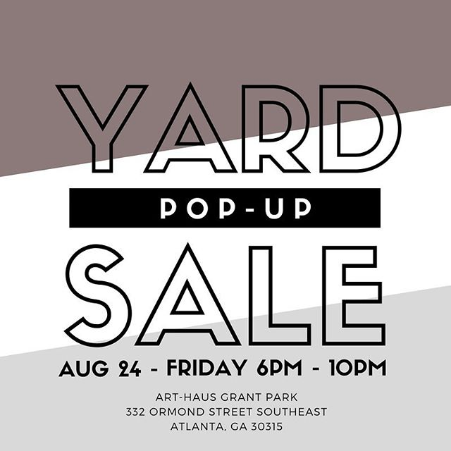 FRIDAY! I will be participating in the POP-UP SHOP SOCIAL! sponsored by COINCYCLE. I will be selling decor, clothes, shoes, pillows and more.⠀ ⠀ Drinks and snacks will be available through out the event!⠀ ⠀  Fri, August 24, 2018⠀ 6:00 PM – 10:00 PM⠀ ⠀ ART-HAUS Grant Park⠀ 332 Ormond Street Southeast⠀ Atlanta, GA 30315⠀