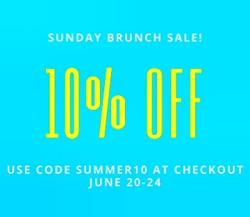 ISSA SALE! Head on over to shopsundaybrunch.com and use summer10 at checkout!