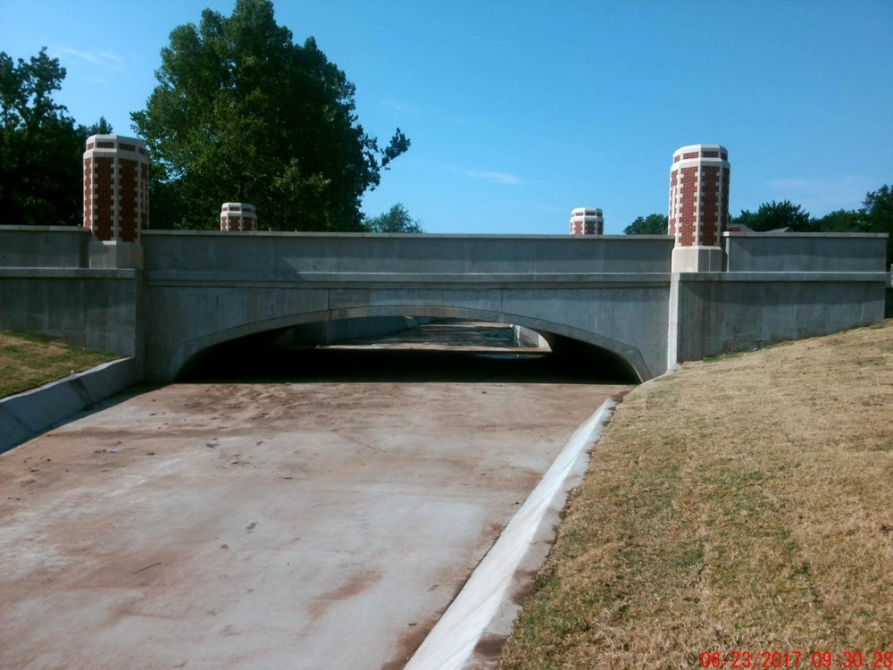 Lindsey St Bridge over Imhoff Creek after capital improvement - 2017