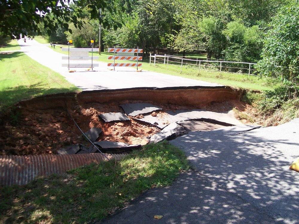 Road Washout: Lindsey East at 60th SE, 2011