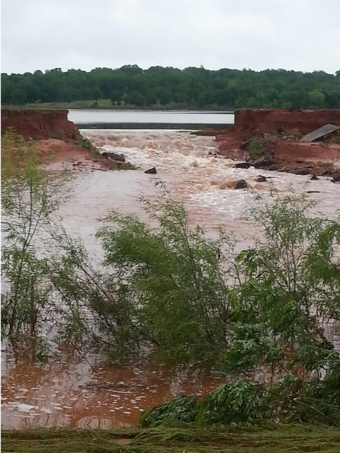 Reynolds Lake – Dam Breach, 2015
