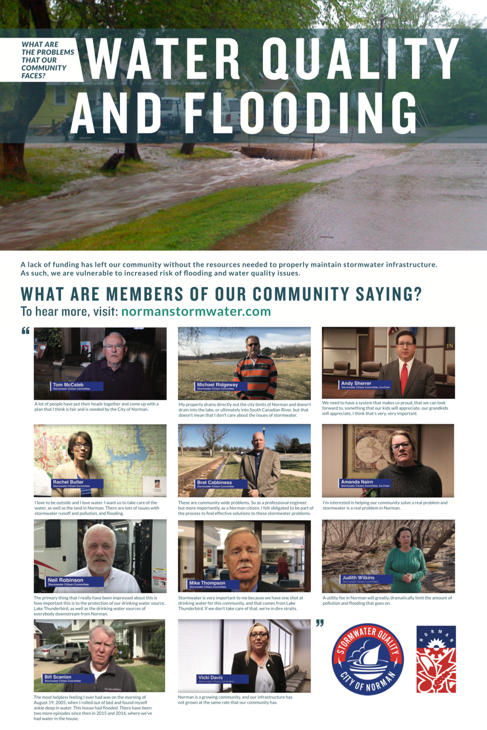 Water Quality and Flooding - What are the problems that our community faces?