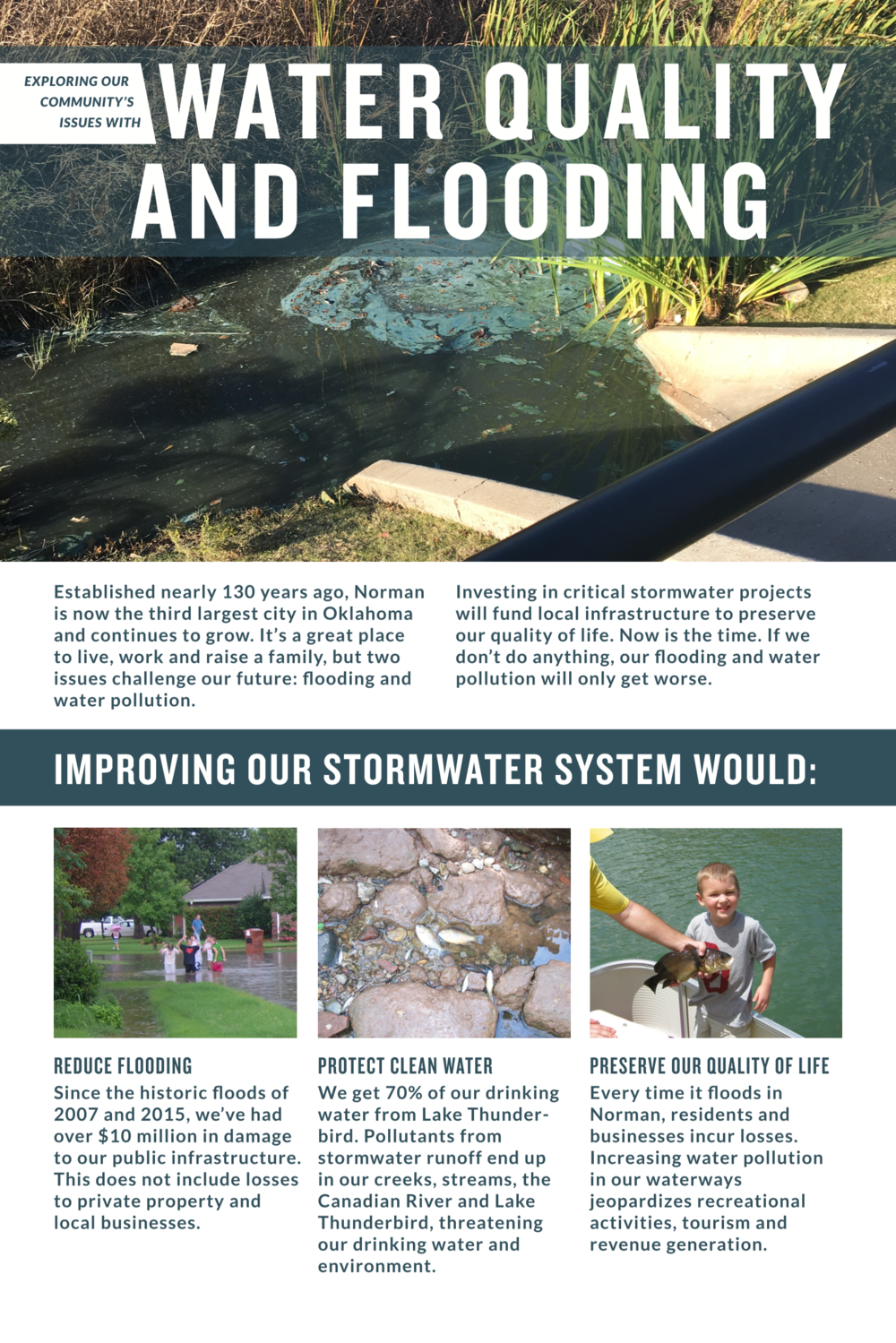 Water Quality and Flooding - Exploring Our Community's Issues