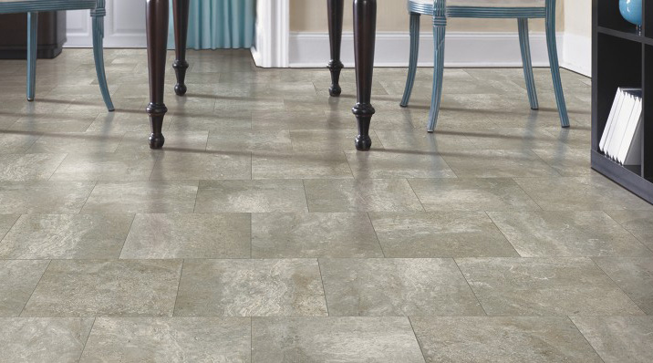 Porcelain - Porcelain tiles are fired at high temperatures making them stronger and harder than other ceramic tiles.  They are extremely wear-resistant and absorb less water than other ceramic tiles so they are an excellent choice for high-traffic areas or areas exposed to moisture.
