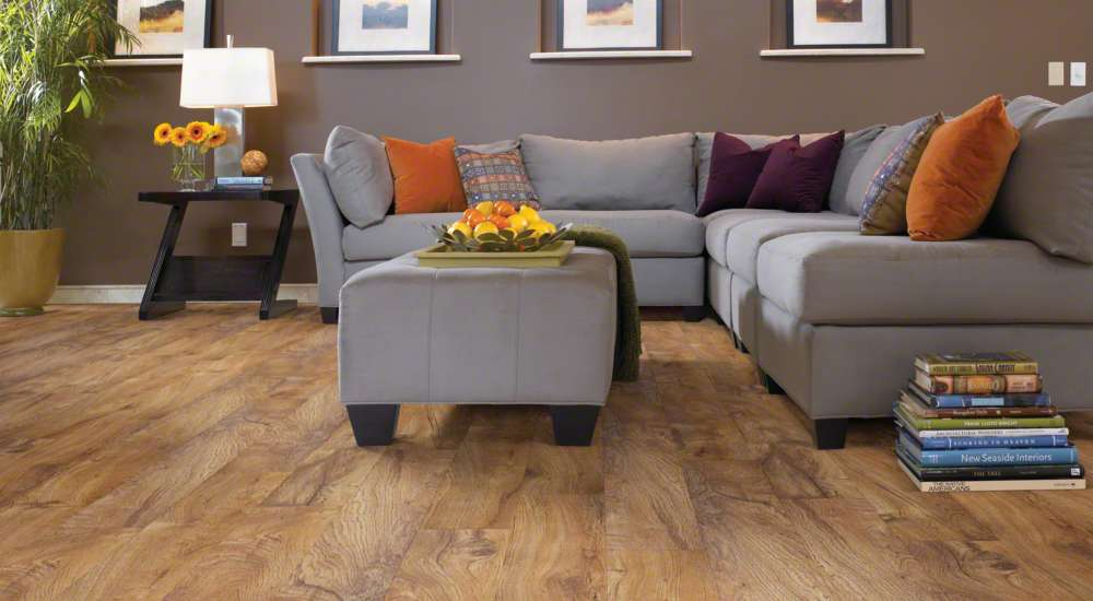 Gluedown LVP - The natural look of hardwood floors adds beauty and warmth to any home.  Hardwood flooring can also increase your home's resale value. Today's hardwood floors are more durable and easier to maintain, making them widely usable in most parts of the home.