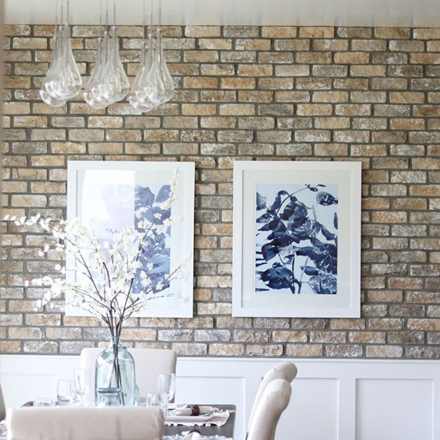 Brick Highlights the white panels