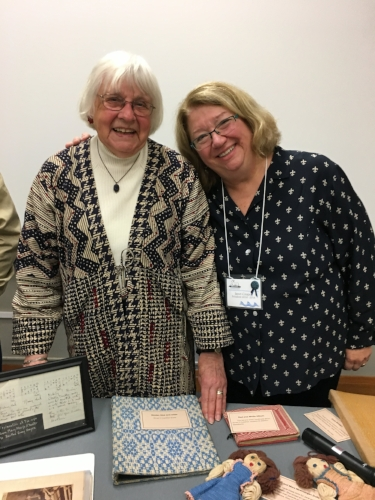 Norma Smayda helped Janet Cooper prepare for our discussion with the BGH book and archives.
