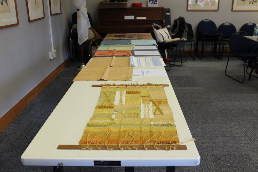 A tantalizing array of weavings of the late Dorrie Burton. Proceeds benefited the guild.