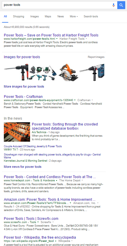 power-tools-search