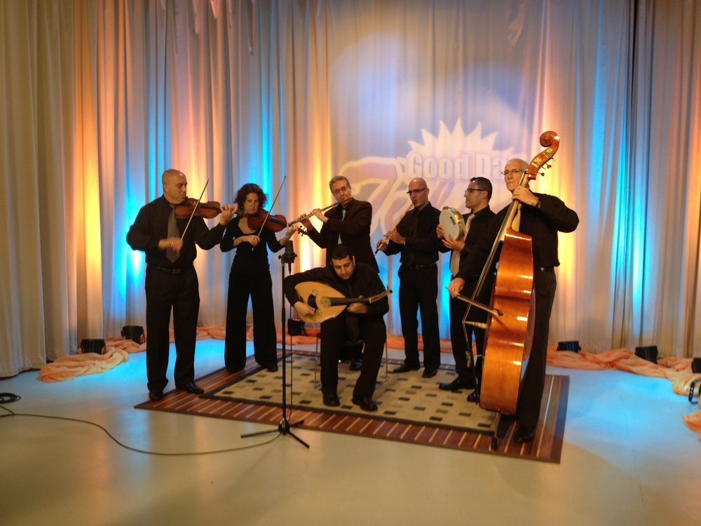 Sheshbesh 2013 performing on Tulsa TV morning program.JPG