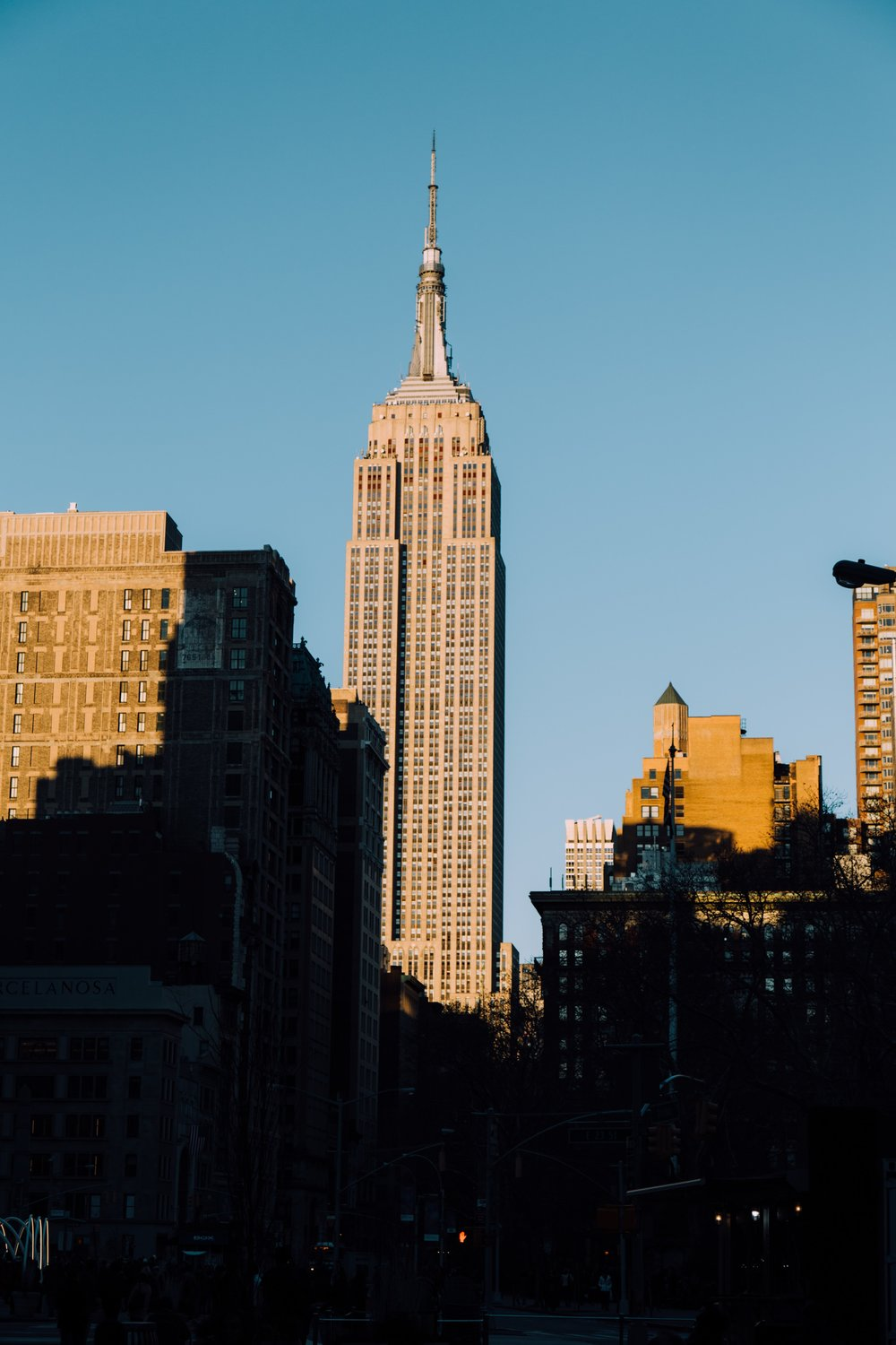 Empire State Building as viewed from Flatiron District, 5th Avenue.