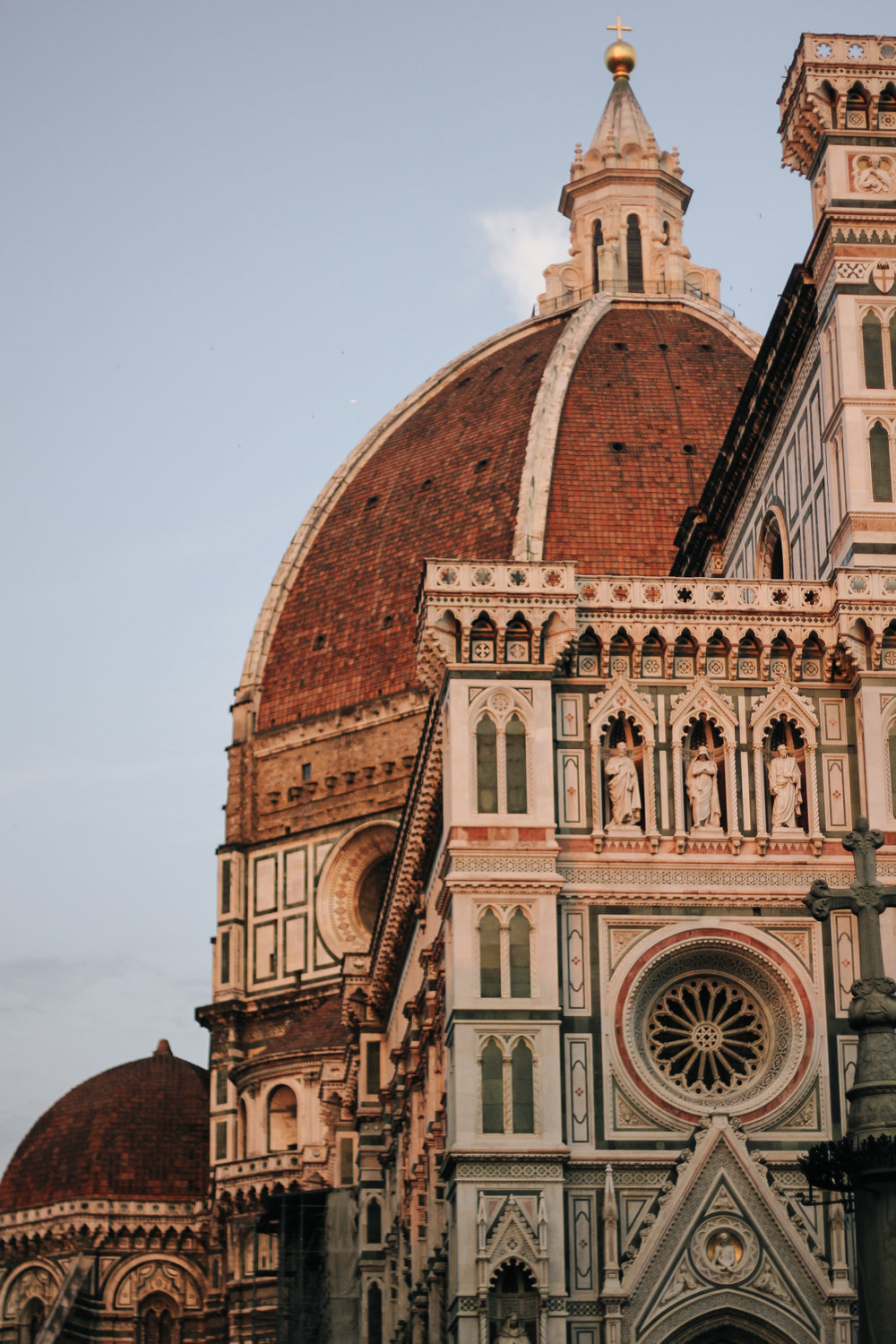 The Dome designed by Filippo Brunelleschi. The double shell brick dome was the largest in Europe.