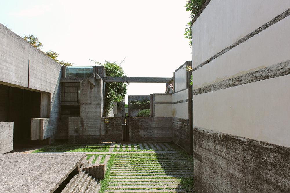 Brion Cemetery designed by Carlo Scarpa