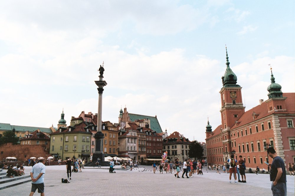 Warsaw Old Town shot on 35mm film with Pentax K1000