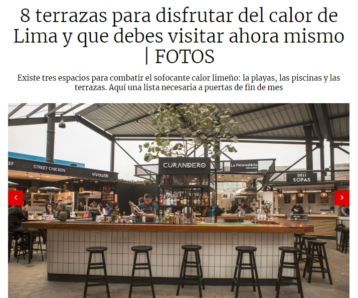 8 terrazas para disfrutar del calor de Lima y que debes visitar ahora mismo  - El Comercio