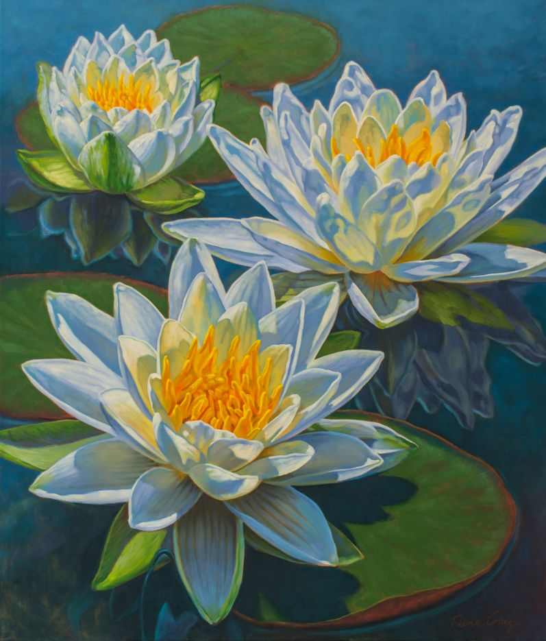 Water Lilies 12: Fire and Ice