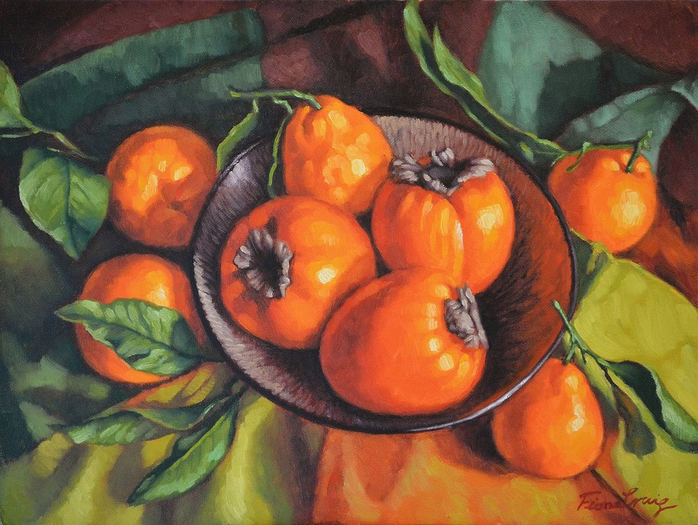 Persimmons and Mandarins
