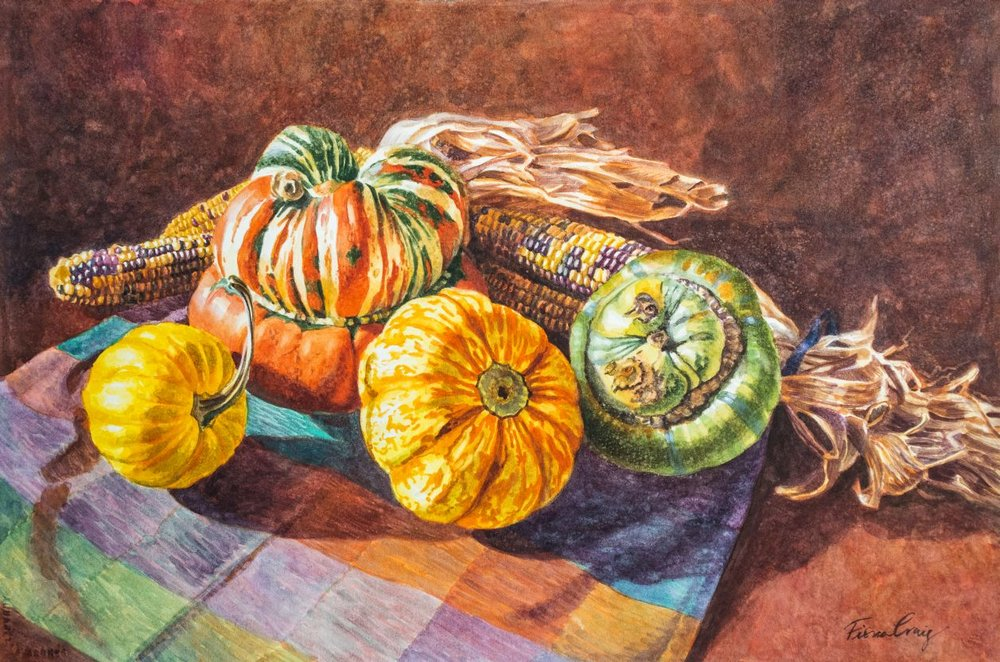 Squashes and Rainbow Corn