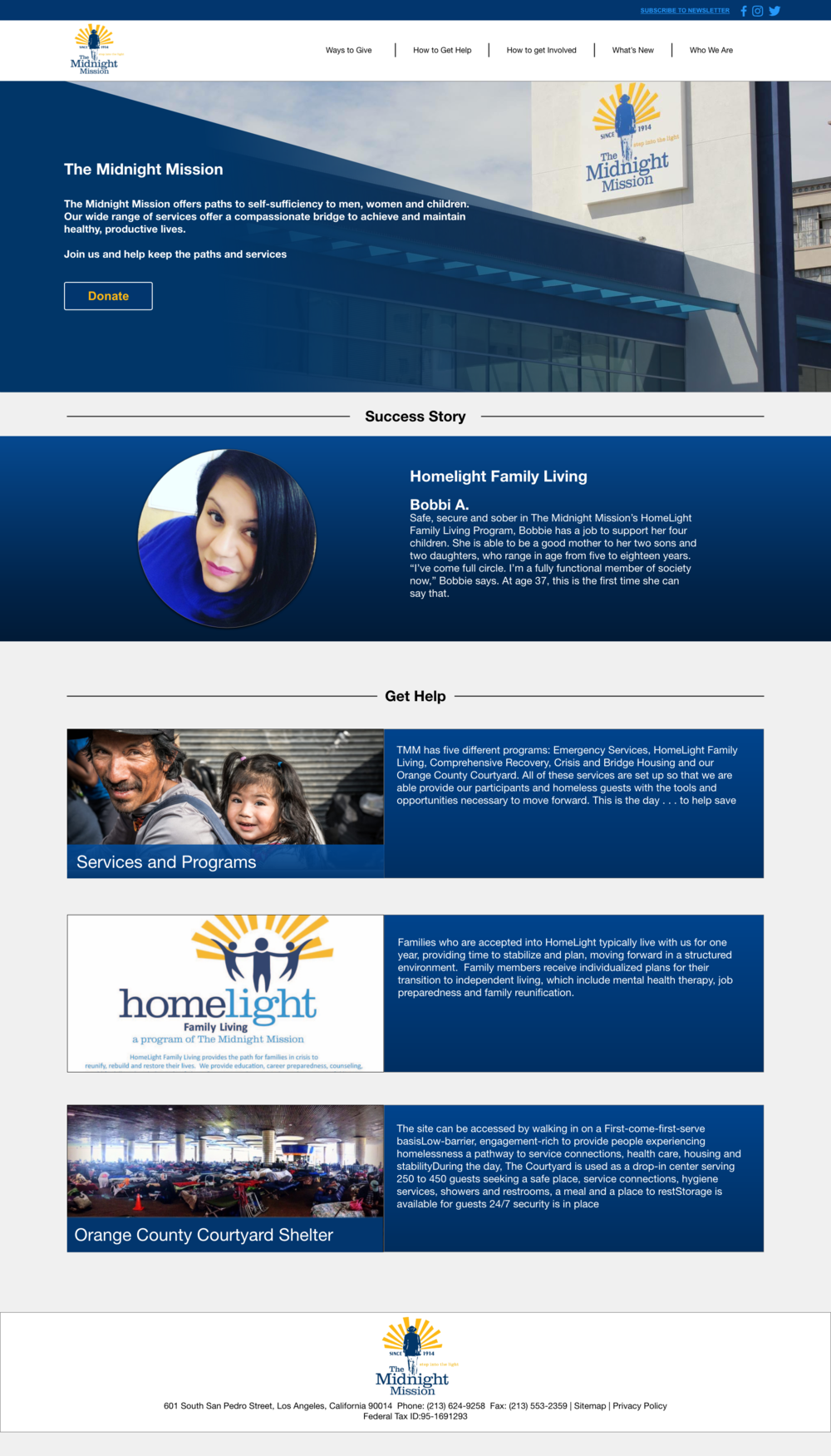 Homepage Redesign