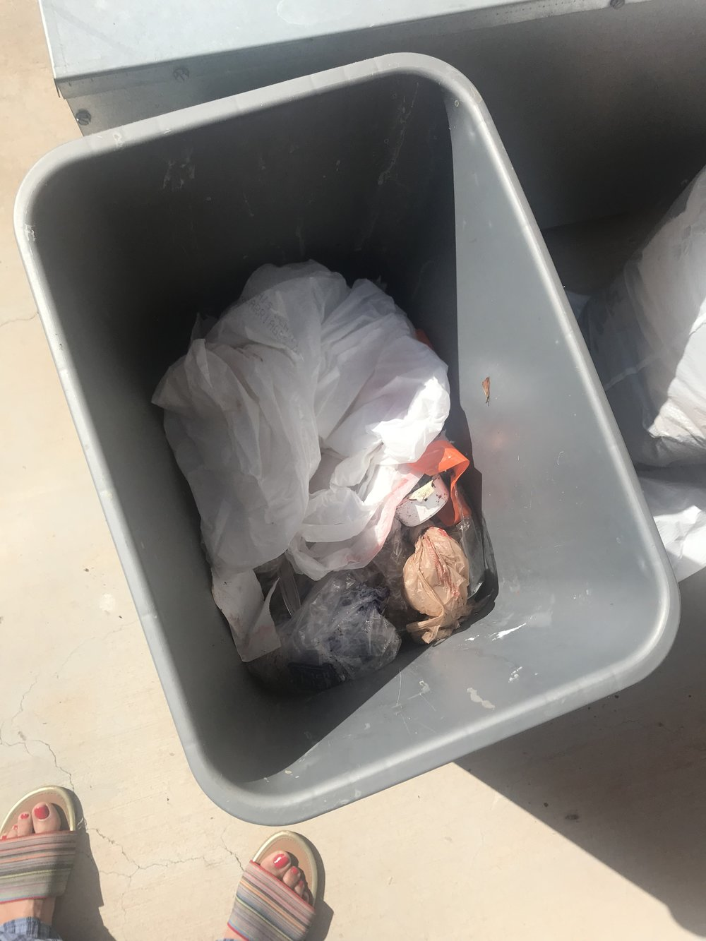 And this was the only trash left!