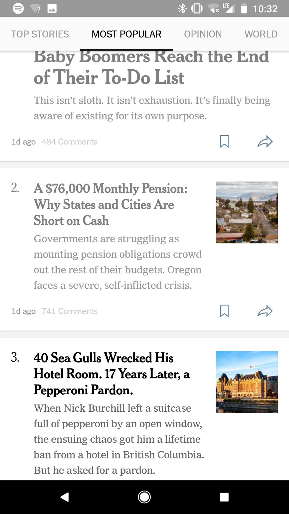 Read articles turn grey