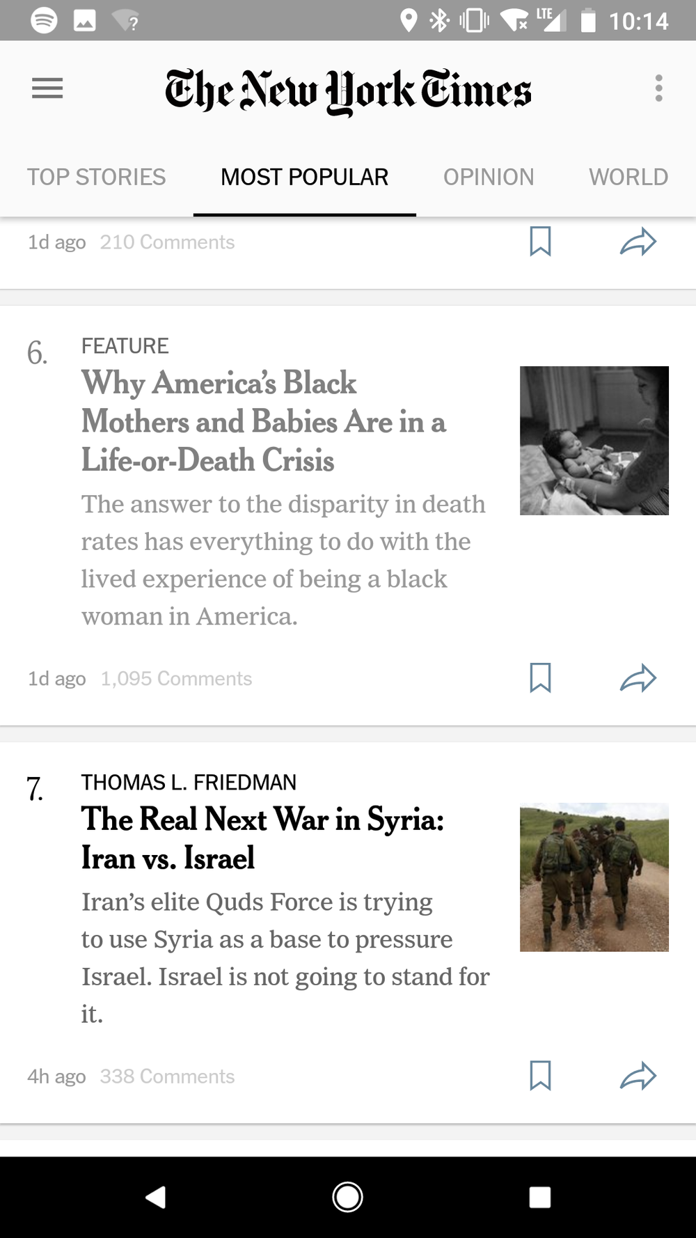 Able to navigate back to homepage for browsing, but no reading