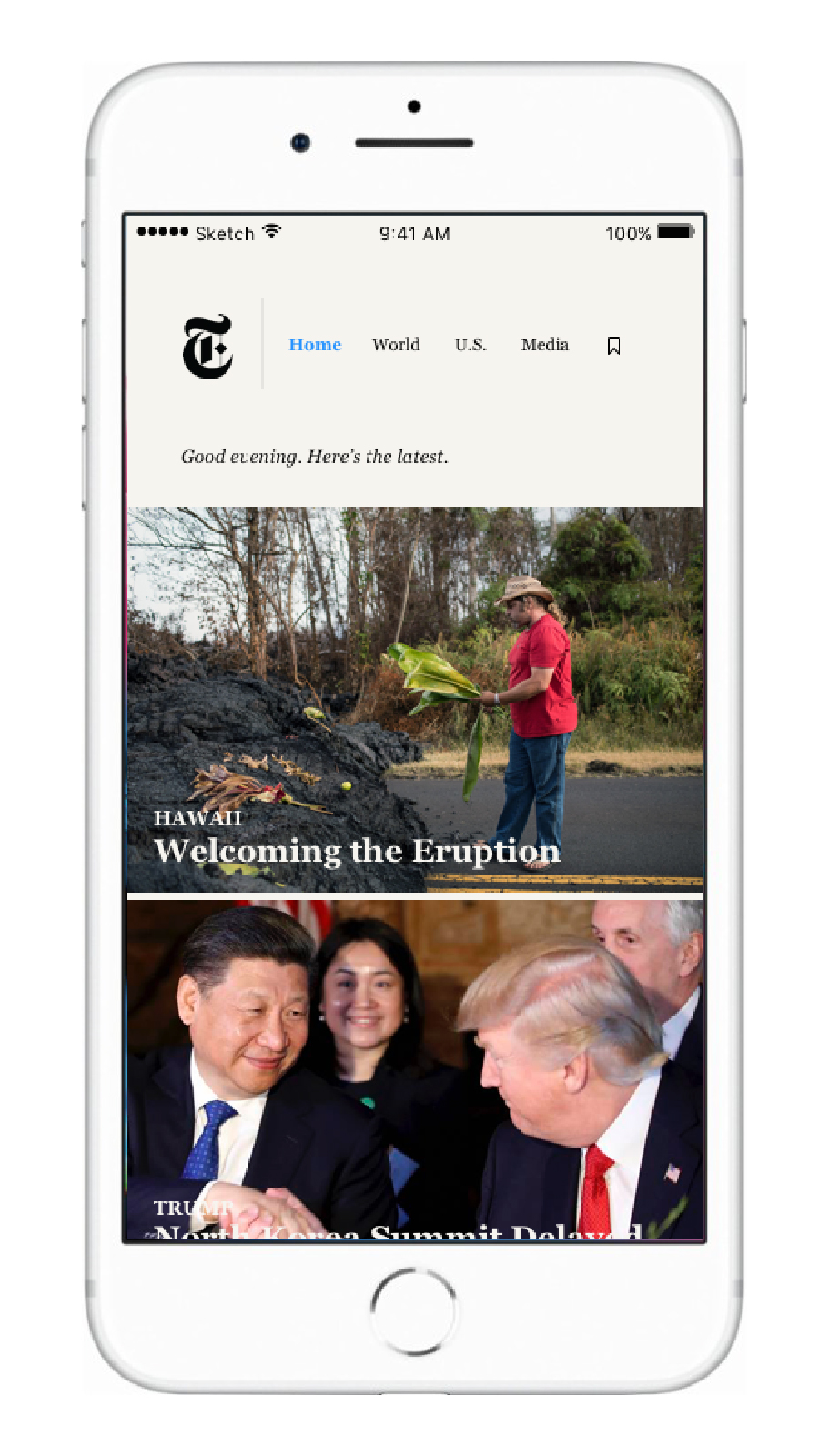 Home features 10 different articles per day based on breaking news and what is most popular.