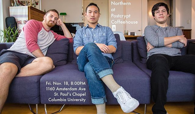 Playing again this Friday on campus at Columbia U! We'll be in St. Paul Chapel's underbelly playing sweet tunes and singing for the birds.  Postcrypt Coffeehouse Fri. Nov. 18 1160 Amsterdam Ave St. Paul's Chapel Columbia U. Doors open at 8:00PM . . . . .  #northernmusicbk #northern  #guitar #taylorguitar #geigenmacher #violin #banjo #folkmusic #folk #americana #brooklyn #greenpoint #greenpointbrooklyn  #postcryptcoffeehouse #uppereastside #amsterdamavenue #columbiauniversity #livemusic