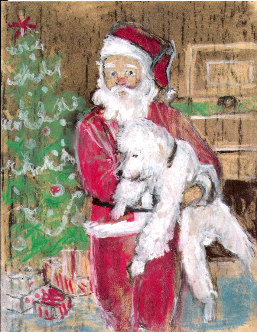 Someones Dad dressed as Santa