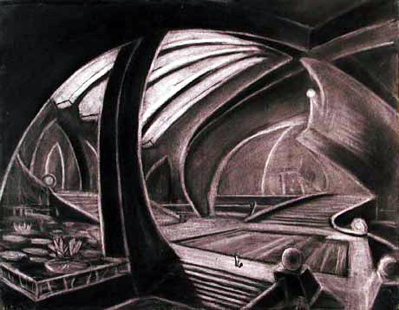 Hotel Lobby 20 x 30 2005 charcoal on paper.jpg