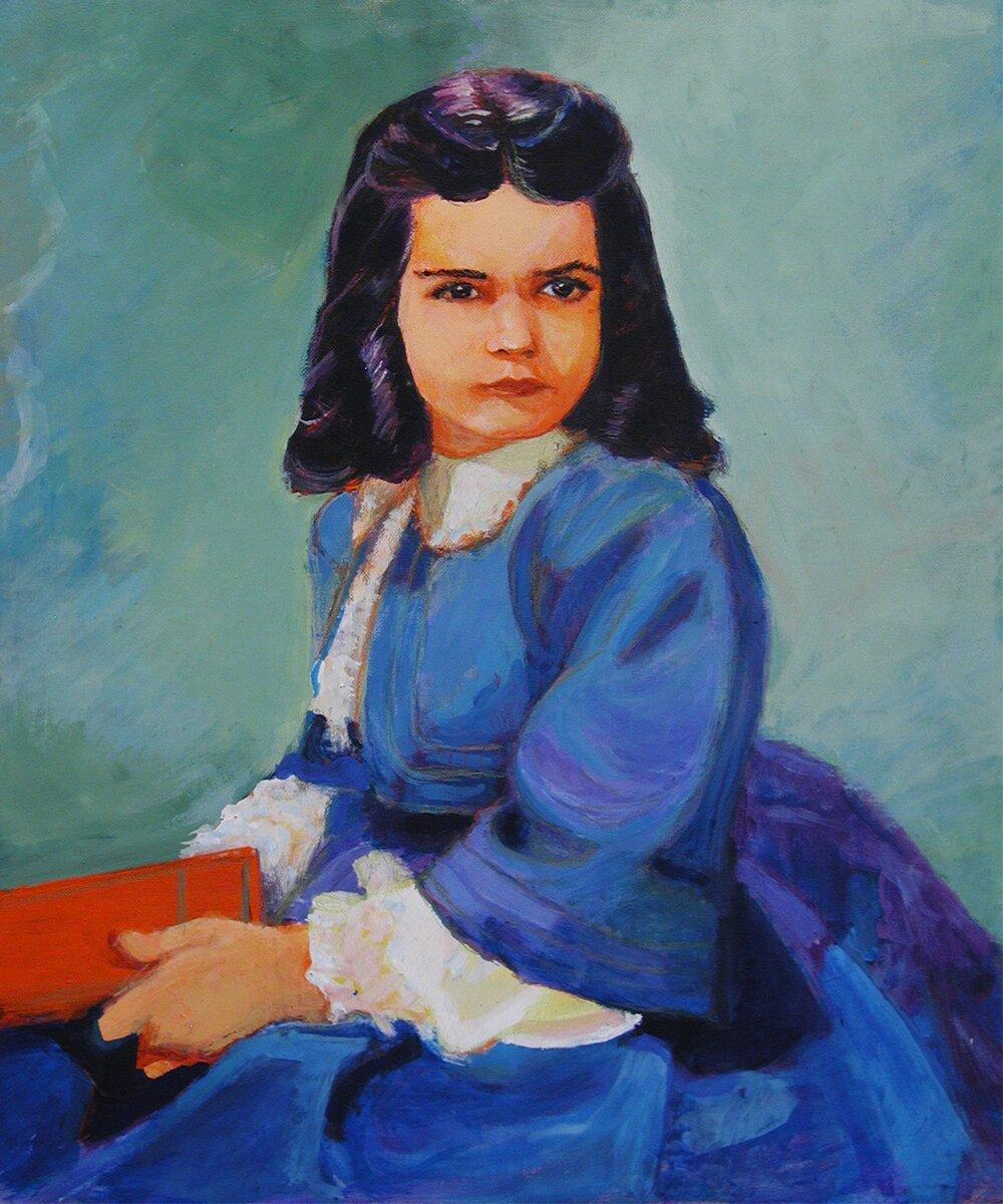 """Bonnie Blue Butler / 30"""" x 20"""" acrylic on board"""