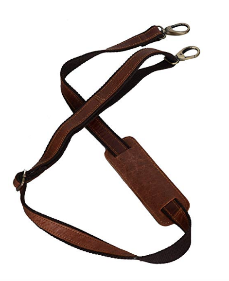Add a Shoulder Strap - Choose whether or not you want to add on a leather shoulder strap. For an additional fee, you can add an adjustable padded leather shoulder strap. Strap adjusts from 28