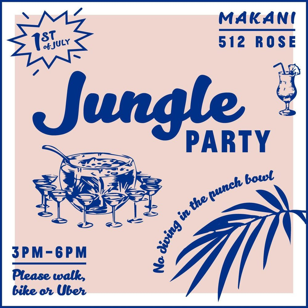 Not your average Westside juice joint... - Join us on Sunday, July 1st from 3pm-6pm for our first JUNGLE PARTY!Enjoy our version of Jungle Juice for $25 per person, or take it easy with our craft cocktail menu and a special Jungle Party bar bites menu.*we encourage you to party with us responsibly | please consider walking, biking or ride sharing*