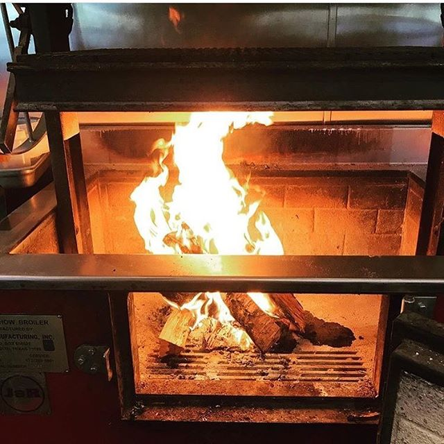 Fire still going! Kitchen open til 11:30p.m. tonight! 🔥