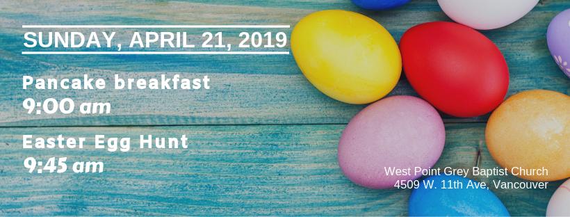 Pancake breakfast & Egg Hunt