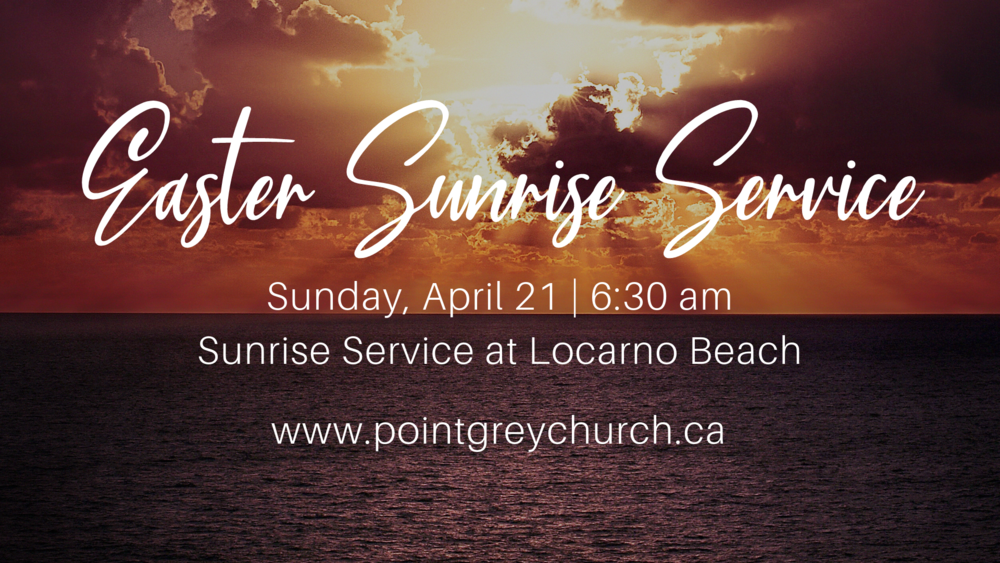 Easter  Sunrise 2019 Service